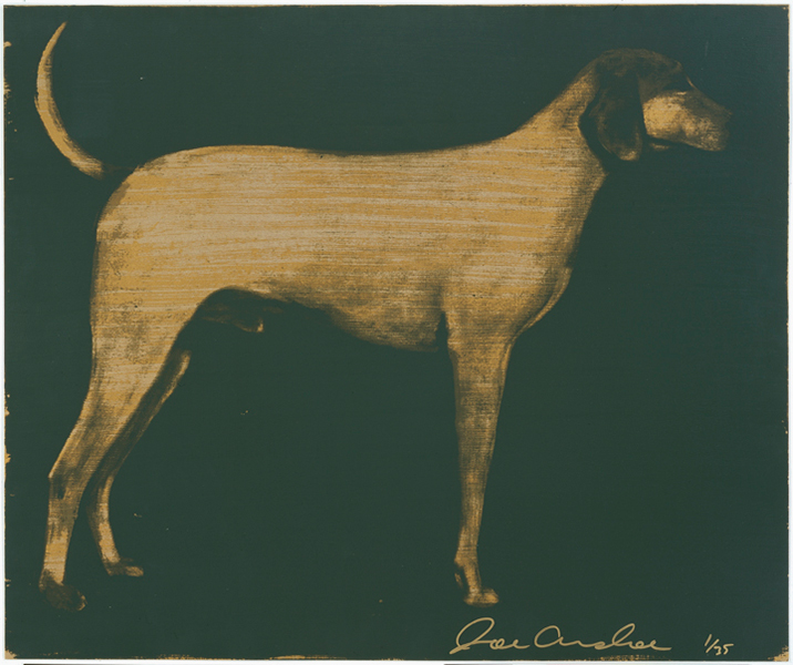 Medium Dog (Olive Green on Byzantine Gold)