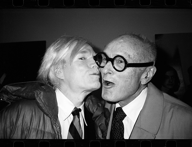 Andy Warhol Kissing Philip Johnson