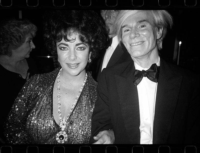 Andy with Elizabeth Taylor