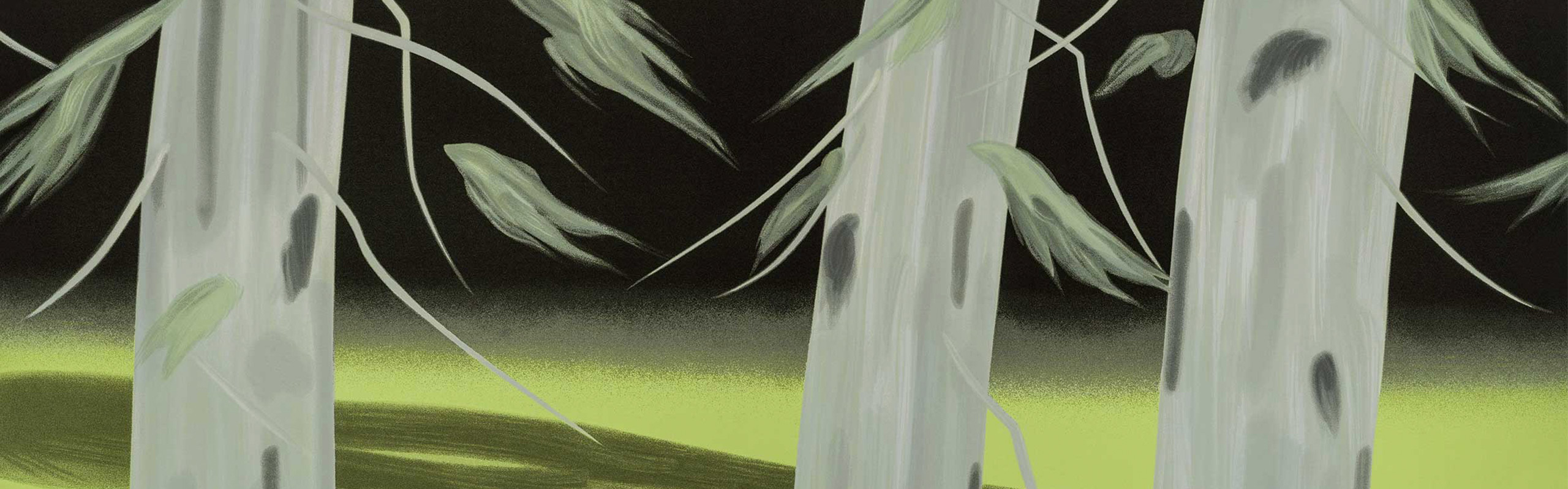 Alex Katz' Three Trees screen print