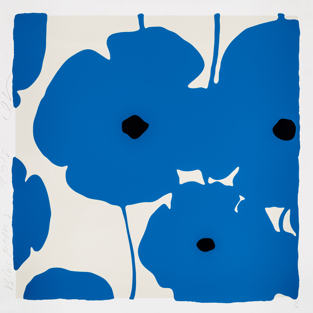 Donald Sultan, Blue Poppies 2018