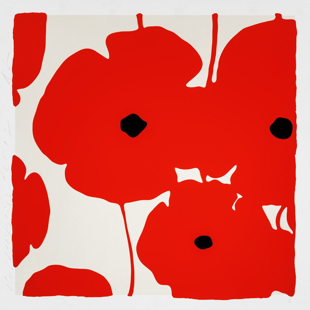 Donald Sultan, Red Poppies 2018