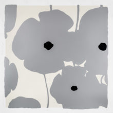 Donald Sultan, Silver Poppies 2018