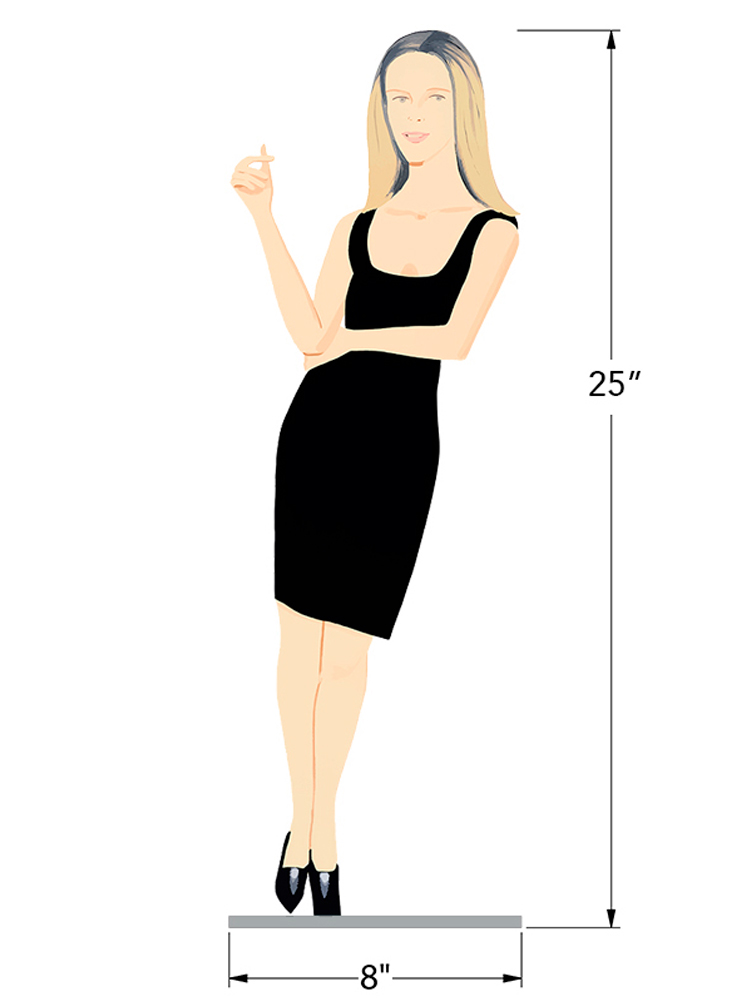 Black Dress 6 - Yvonne - Dimensions
