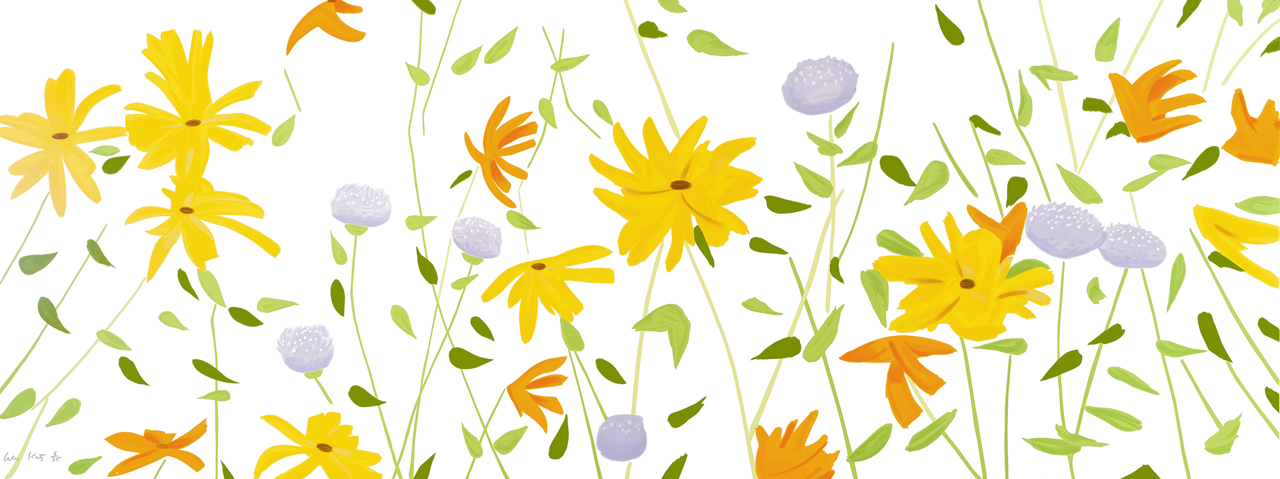Alex Katz Summer Flowers Canvas