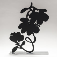 Sultan Black Lantern Flowers, 2018 Sculpture