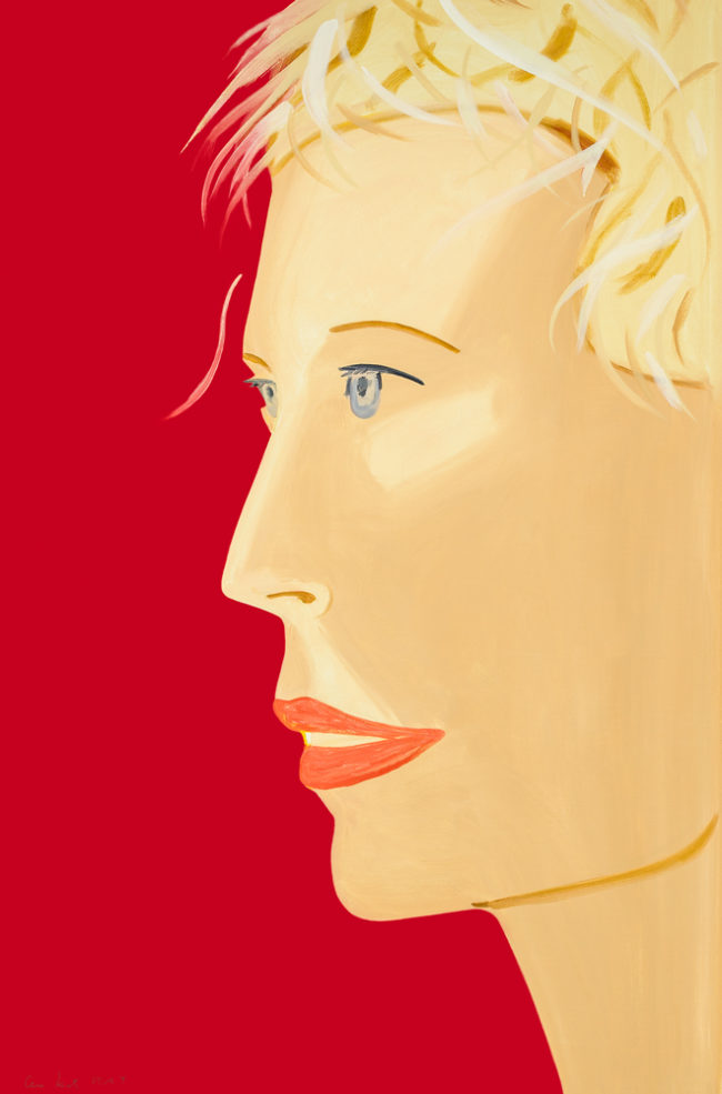 Alex Katz Coca Cola Girl (Red) digital print