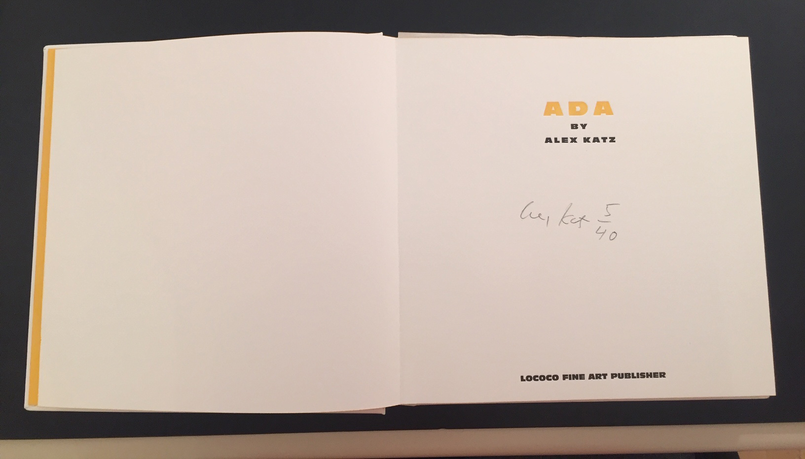 Alex signature in book