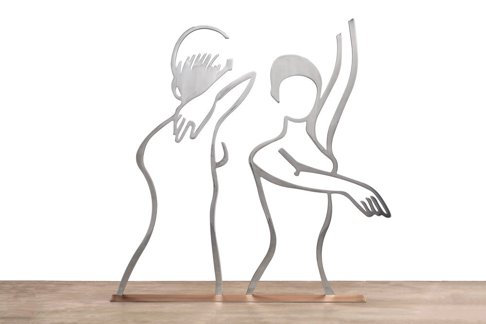 Dancers (Outline) by Alex Katz