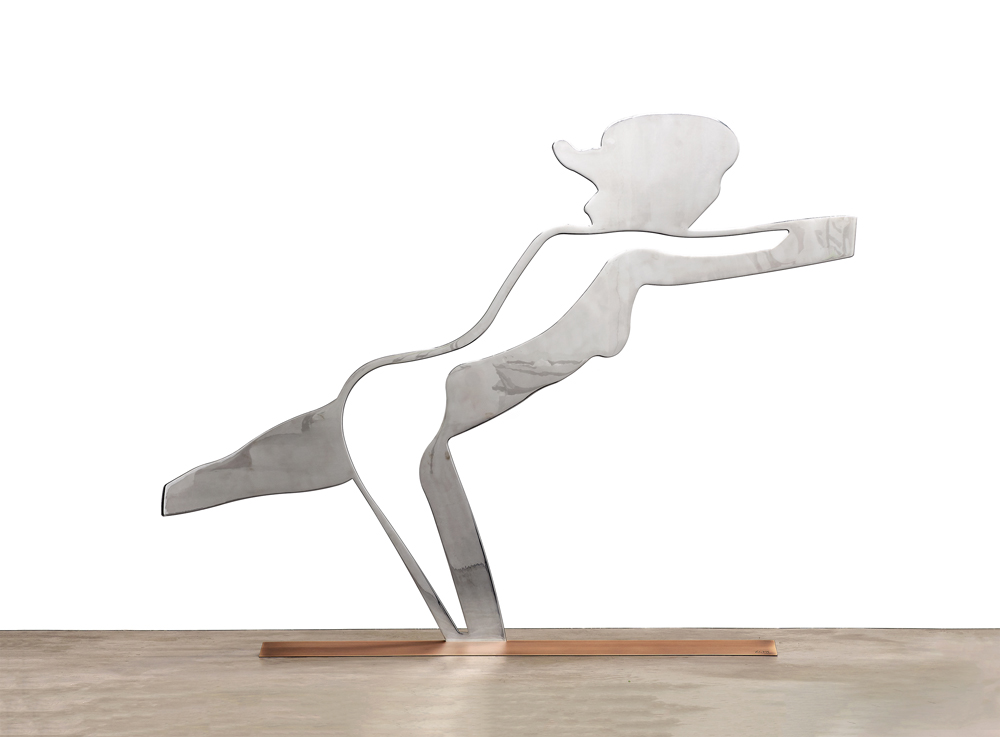 Dancer 3 (Outline) by Alex Katz