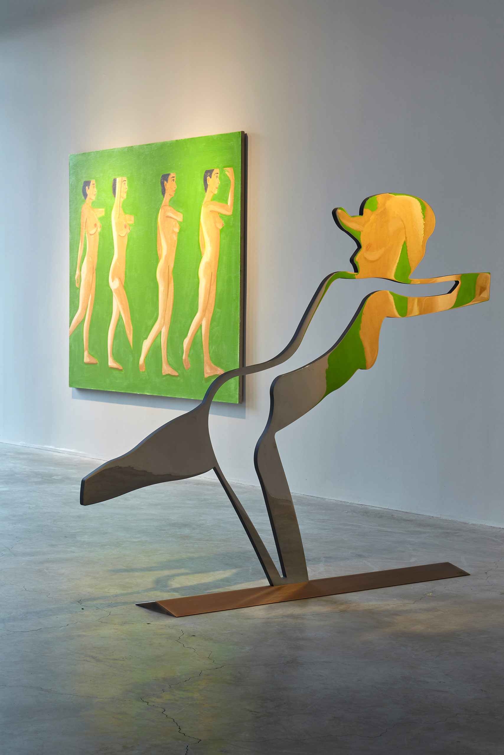 Alex Katz Dancer 3 (Outline) installation at Gavin Brown