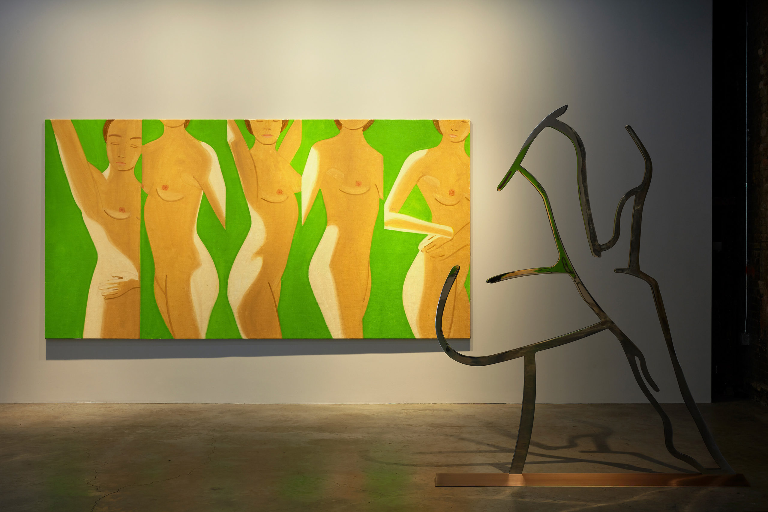 Alex Katz Dancer 1 (Outline) installation at Gavin Brown