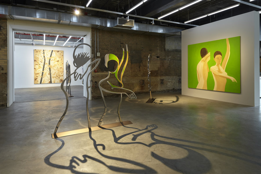 Alex Katz Dancers 1 (Outline) installation at Gavin Brown
