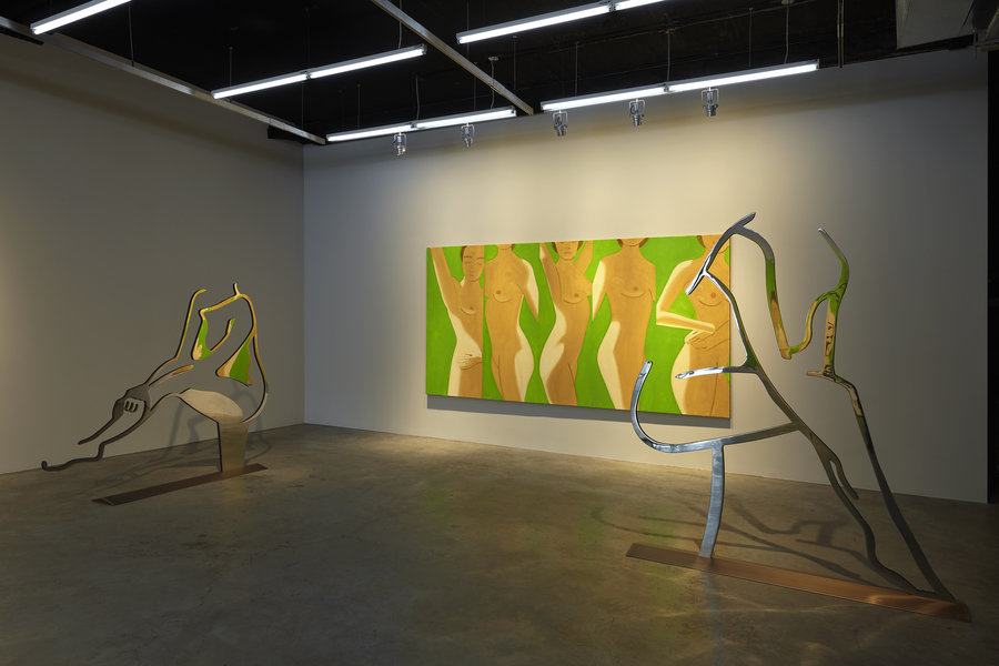 Alex Katz Dancer 1 (Outline) & Dancer 4 (Outline) installation at Gavin Brown