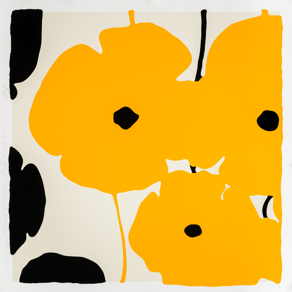 Yellow & Black Poppies by Donald Sultan