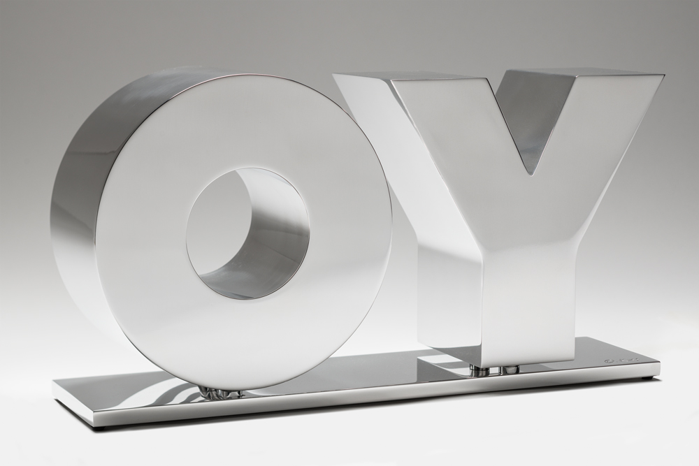 OY / YO (Polished) by Deborah Kass
