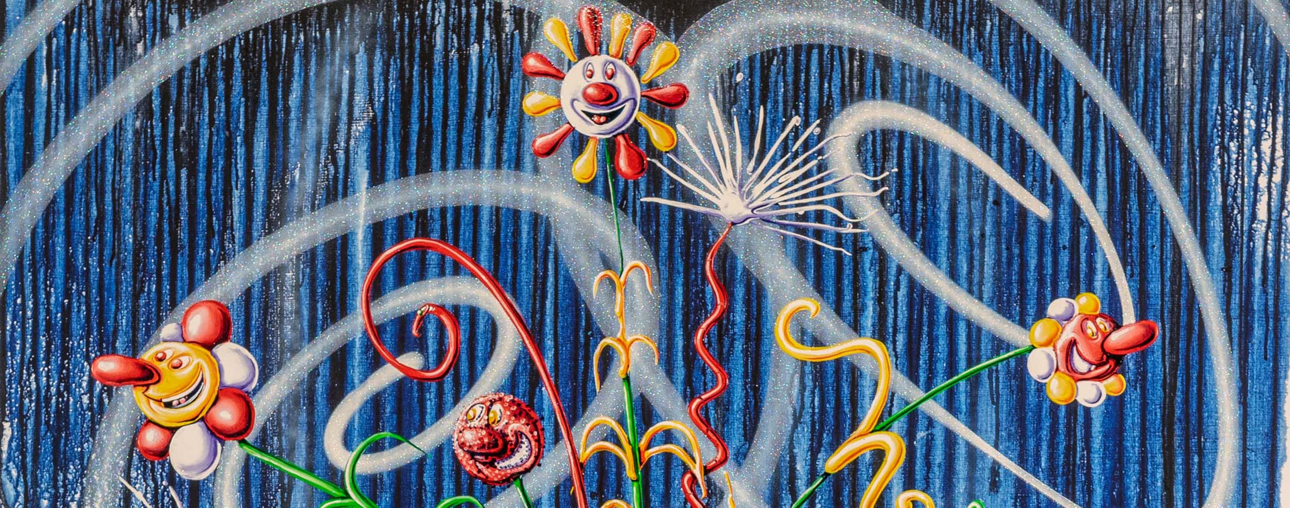 Flores Blue by Kenny Scharf - banner