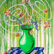 Flores Green by Kenny Scharf