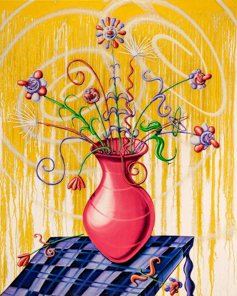 Flores Yellow by Kenny Scharf