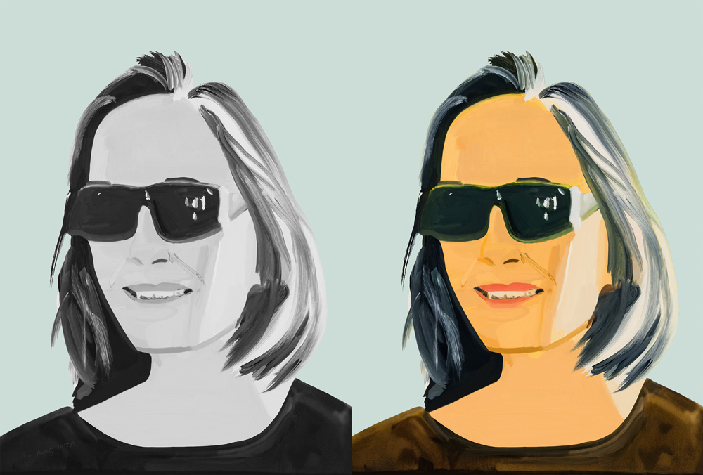Ada X 2 by Alex Katz