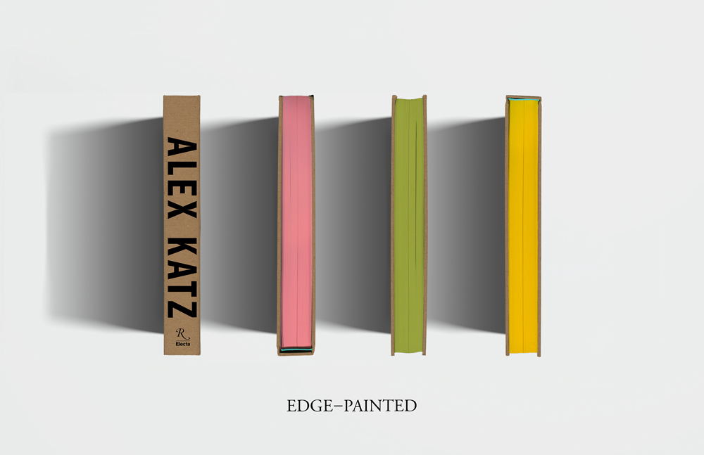 Alex Katz Luxe book from Rizzoli Electra Spine & Colored Edges