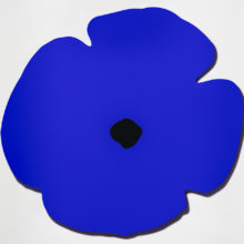 Blue Wall Poppy by Donald Sultan