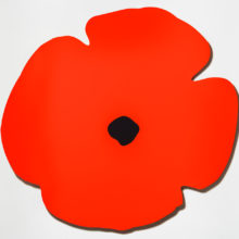 Red Wall Poppy by Donald Sultan